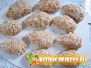 ежики с рисом и фаршем для детей