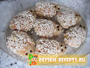ежики с рисом и фаршем рецепт