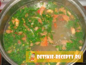 готовим домашний суп с лапшой