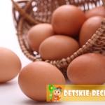 блюда из яиц для детей