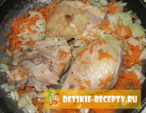 плов с курицей в пароварке рецепт с фото пошагово