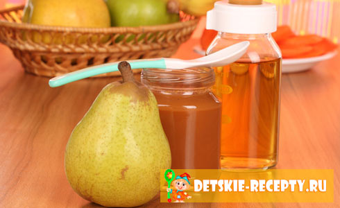 грушевое пюре с добавлением яблочного сока