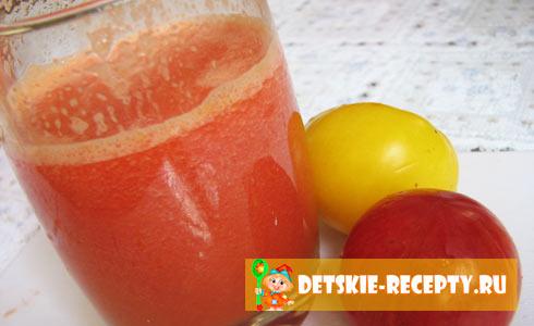 рецепт приготовления томатного сока через соковыжималку