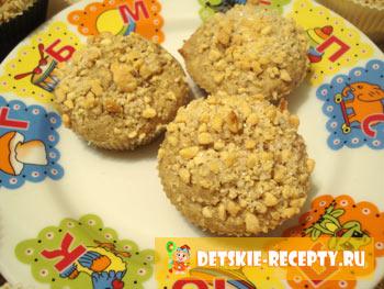 овсяные кексы с орешками