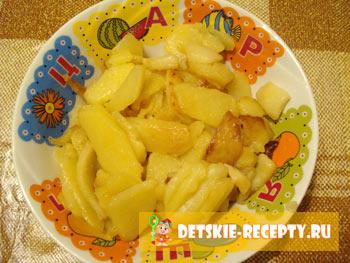 вареное сердце с картошкой