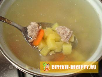 рецепт с фото супа с фрикадельками