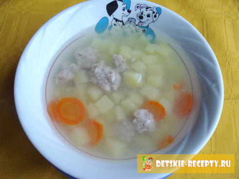 суп с фрикадельками для детей