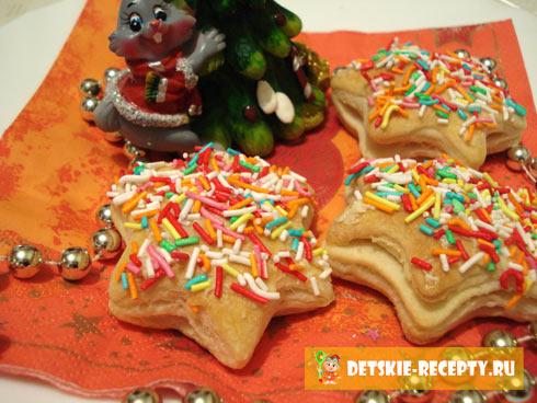 рождественское печенье звезды
