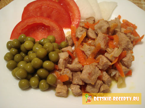 как приготовить мясо с овощами