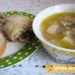 гречневый суп с курицей для детей