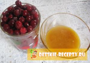 клюквенный морс с медом рецепт