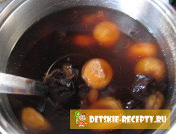 компот из изюма и кураги рецепт