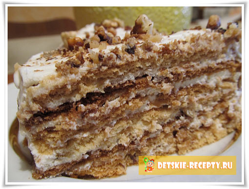 пирог со сметанным кремом рецепт с фото