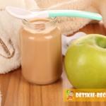 Детское яблочное пюре на зиму