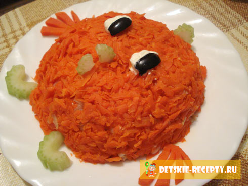 оформление салатов детских