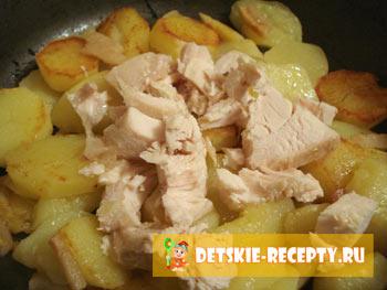 картофель с курицей по деревенски
