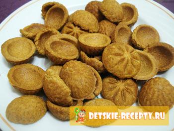 орешки в формочках рецепт