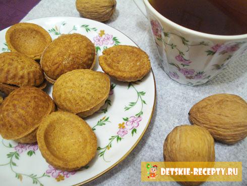 рецепт орешков в формочках