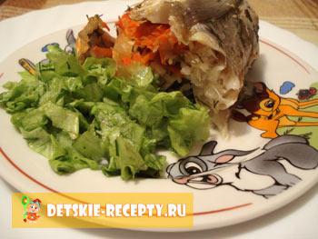 готовая рыбка с овощами