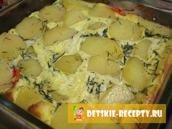 готовая запеканка из курицы с картофелем