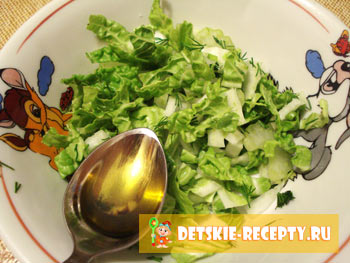 оливковое масло в салате