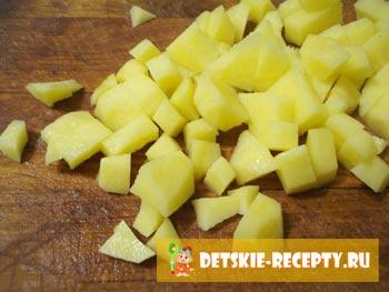 картофель для супа с фрикадельками