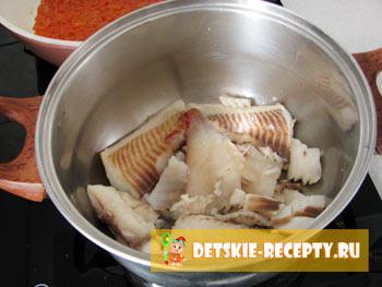 рыба тушеная под маринадом