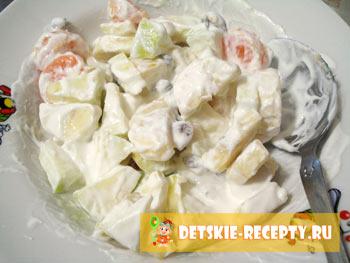 салат фруктовый рецепт