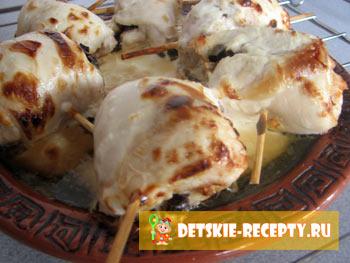 рулеты из куриного филе рецепт