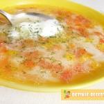 овощной суп на мясном бульоне