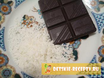 кокосовая стружка и шоколад