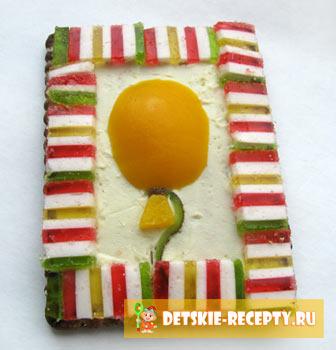 сладкий бутерброд на праздник