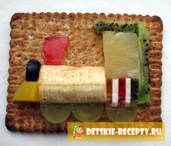 сладкий бутерброд паравоз