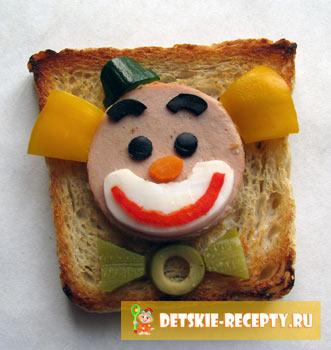 соленый бутерброд на день рождение