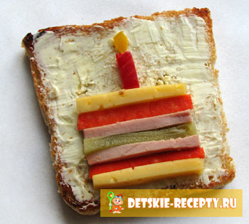 бутерброд тортик
