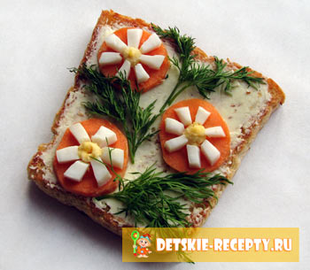 бутерброд цветочная поляна
