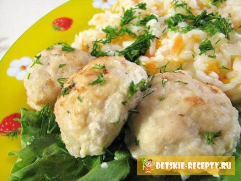 с рисом куриные тефтели в сливочном соусе в духовке рецепт с фото