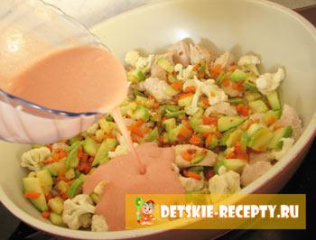 рецепт курицы с овощами