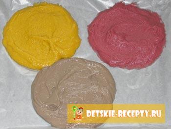 разноцветные коржи для торта