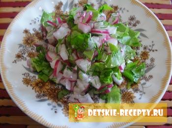 готовый весенний салат