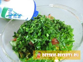 салат с яйцом рецепт