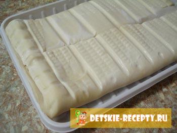 слоеное тесто для язычков