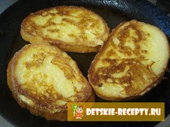 гренки сладкие из белого хлеба