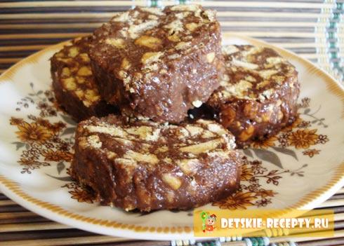 рецепт шоколадной колбасы