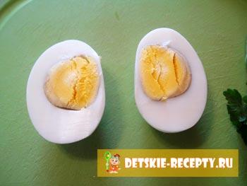 украшение блюда из яиц