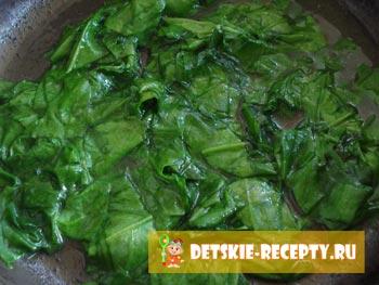 рецепт омлета со шпинатом