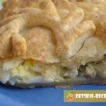 слоеный пирог с яйцом