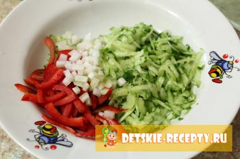 покрошенные овощи