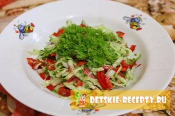 салат на растительно масле