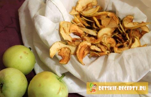как засушить яблоки на зиму